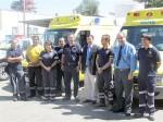 Durante su visita a los distintos establecimientos de la red, el Dr. Castillo y Rodrigo Infante entregaron nuevas ambulancias en las distintas bases del SAMU.