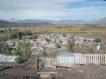El Alcalde Jaime Amar hizo una evaluación con los problemas que se produjeron en la comuna a causa del sistema frontal que llegó a la zona. Nuevo Algarrobal uno de los tantos sectores afectados.