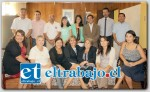LA DESPEDIDA.- Personal de Gobernación posaron para las cámaras de Diario El Trabajo al lado de la hasta hoy Gobernadora Patricia Boffa.