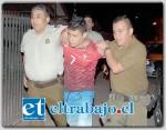 Marcelo Delgado Olguín alias el 'Caretuto', fue capturado al interior de una vivienda de Villa El Señorial, tras cometer un crimen en Los Andes. Hace unos días recuperó su libertad por decisión del Tribunal Oral de San Felipe. (Foto Pedro Muñoz)