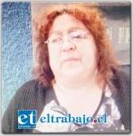 Nelly Candia, madre del fallecido.