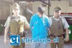 Diego Aguilera Leiva fue capturado por en horas de la tarde del lunes en la comuna de Llay Llay por Carabineros que lo trasladaron de inmediato hasta el Centro de Cumplimiento Penitenciario de San Felipe.