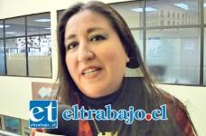 Lorena Véliz, encargada del programa de patrimonio cultural de la Escuela José Bernardo Suárez.