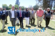 La ministra Riffo ingresa al Estadio Fiscal, terreno donde se construirá el nuevo estadio sanfelipeño.