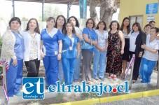 Muy contentas estaban las dirigentes de la Asociación de Técnicos Paramédicos al inaugurar su nueva sede gremial.