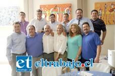 Diversos representantes de la Democracia Cristiana de la provincia de San Felipe se reunieron junto al Intendente de Valparaíso Gabriel Aldoney para entregar su apoyo a la reelección del alcalde Patricio Freire.
