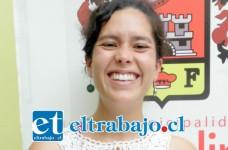 Sabina Castro, coordinadora de la Oficina Municipal de la Juventud San Felipe.