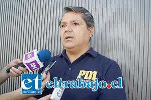 Comisario Gino Gutiérrez, jefe de la Brigada de Homicidios.