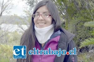 María Graciela Cantellano fue una de las 40 jóvenes de Chile y Argentina que participó en la quinta versión del campamento científico Bayer Kimlu desarrollado en el Parque Tantauco en la Isla de Chiloe.