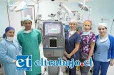 Facovitrector, equipo avaluado en 100 millones de pesos que permitirá intervenir quirúrgicamente en el HSC a cerca de 100 pacientes con problemas de retina.