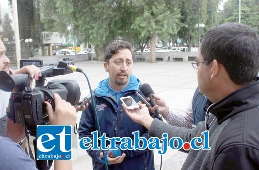 Claudio Martínez, director de Protección Civil.