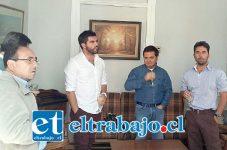 En la reunión estuvo Felipe Cuevas y Felipe Rodríguez, acompañados por el vicepresidente de la UDI, Edmundo Eluchans, el ex diputado aconcagüino Marcelo Forni, entre otros.