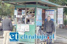 Los propietarios de de kioscos de la plaza ya están hartos de sufrir robos.