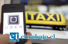 Los famosos taxis Uber llegarían al Valle de Aconcagua.