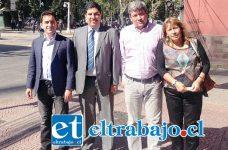 Benigno Retamal junto a diputado Marco Núñez, Core Sandra Mirada y al candidato a concejal Moisés Zamorano.