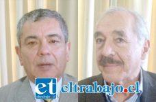 Gerente Regional de Coopeuch, Oscar Roa Núñez (Izq.). Alcalde de San Felipe Patricio Freire Canto.