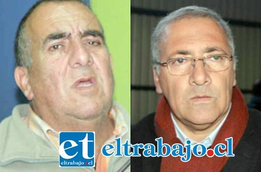 El actual alcalde Guillermo Reyes del Partido Socialista y al exalcalde de Renovación Nacional Roberto Martínez.