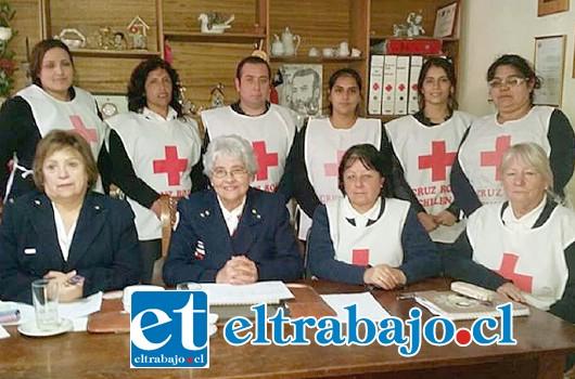 Voluntarias de La Cruz Roja filial San Felipe.