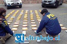 En esta diligencia, se incautaron 125 kilos de pasta base, 5 kilos de Cannabis Sativa 100 gramos de cocaína de alta pureza, toda a avaluada en más de 2 mil millones de pesos.