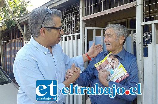 Candidato a alcalde Eugenio Cornejo, manifestó su preocupación por la seguridad en San Felipe