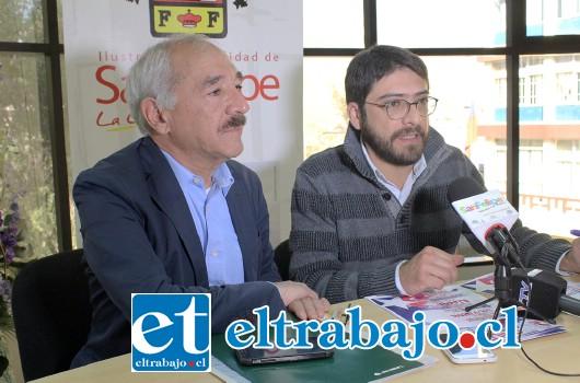 Alcalde de San Felipe Patricio Freire, junto al encargado del Departamento de Cultura del municipio, lanzaron parrilla artística de la 3ª versión de la Fiesta de la Chilenidad.