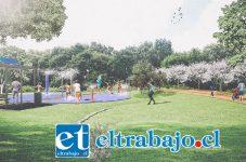 Dos plazas de agua, senderos, áreas verdes, juegos infantiles, contempla la segunda etapa que se extenderá desde calle Abdón Cifuentes hasta el Aeródromo de San Felipe.