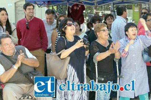 UNA NUEVA MIRADA.- Usuarios y público en general, se unieron en esta celebración especial coordinada por la Unco Discapacidad San Felipe.