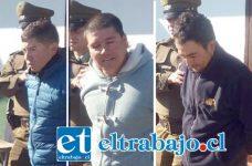 El trío delictual cometió el robo cerca de las 07:30 horas de ayer jueves en la ruta 60 CH por Curimón escapando hacia San Felipe a bordo de un vehículo, siendo detenidos por Carabineros.