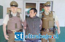 El imputado fue detenido en flagrancia por Carabineros de la comuna de Catemu, siendo derivado hasta tribunales que asignó la cautelar de prisión preventiva.