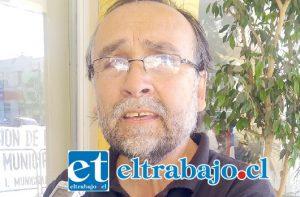 Concejal de San Felipe, Ricardo Covarrubias (Partido Comunista, PC).