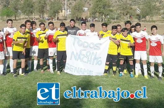 El Fútbol amateur Santa Rosa de Las Cabras y el Club Almendral Alto dedicaron un espacio en apoyo al menor.