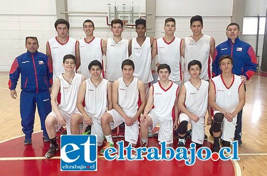 La selección chilena U15 tiene dentro de sus filas a dos jugadores y el entrenador de San Felipe Basket.