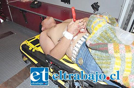 El camionero llegó al Hospital San Camilo con el cuchillo cocinero clavado en el abdomen tras ser apuñalado por su compañero de labores. (Foto Referencial).