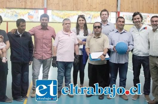 CONDORES DE ACONCAGUA.- Nace el primer club de las provincias de San Felipe y Los Andes, constituido formalmente por ciegos para el desarrollo del goalball, deporte paralímpico.