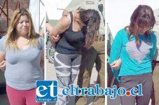 Las imputadas tras ser detenidas por Carabineros fueron dejadas en libertad por disposición del fiscal de turno