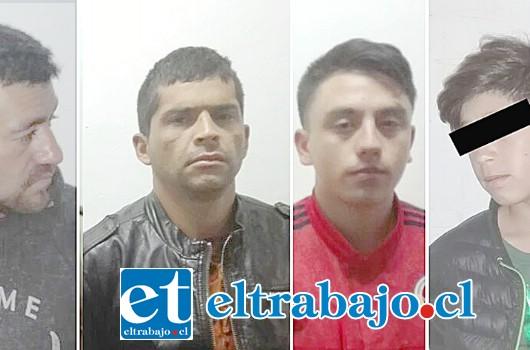 Los imputados fueron detenidos por Carabineros la madrugada de ayer domingo en avenida Chacabuco de San Felipe, uno de ellos un menor de 14 años de edad.
