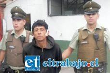El detenido ampliamente conocido en la comuna de Llay Llay como 'El Coti' tras ser detenido por Carabineros quedó en prisión preventiva por decisión del Tribunal de Garantía.