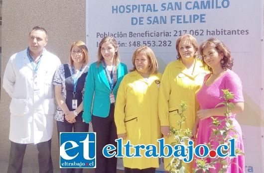 Directoras del Servicio de Salud Aconcagua y del Hospital San Camilo, junto a profesionales del Servicio de Urgencias de este recinto, visitaron las obras de mejoramiento que se realizan en la unidad.