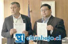 Gobernador, Eduardo León, junto al director Regional de la DGA, Gonzalo Peña, informaron sobre el cese de la extracción 'no autorizada' de aguas superficiales y la restitución del cauce del Río Rocín a la Compañía Minera Vizcachitas Holding.