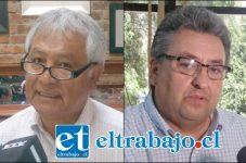 Iván Reyes, consejero regional, integrante de la comisión de medioambiente del Gobierno Regional de Valparaíso, y Jorge Jara Catalán, director del Departamento Jurídico de la Municipalidad de San Felipe.