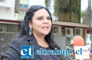 Patricia Lolas, encargada de la Oficina de Cultura y Formación del Departamento de Cultura de la Municipalidad de San Felipe.