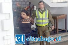 La imputada fue detenida por Carabineros acusada de haber disparado dos veces contra uno de los guardias de la Discoteque Scalibur de San Felipe.