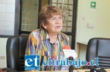 Jefa del Departamento de Organizaciones Sociales de la municipalidad, asistente social Alicia Niclaux.