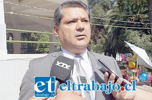 El jefe de la Brigada de Homicidios de la PDI de Los Andes, Gino Gutiérrez Cáceres.