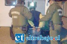 El procedimiento policial se efectuó la noche de Halloween capturando a dos sujetos que sustrajeron especies en horas de la madrugada desde la Mueblería Opazo en avenida Maipú en San Felipe. (Foto Archivo).