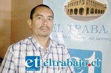 Luis Vega Barraza, Director del Sindicato GAL del supermercado Santa Isabel de Yungay, pidió de la empresa una solución para los trabajadores.