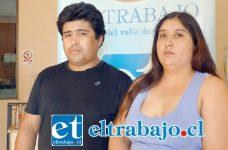 Viviana Rubilar González junto a Robinson Urical Salazar, padres del menor de 12 años que sufrió la sobredosis, se mostraron preocupados por las secuelas que pueda sufrir su hijo.