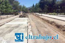 Actualmente se ejecutan obras de pavimentación, consideradas en la tercera fase del proyecto de parque para el sector norte de la ciudad.