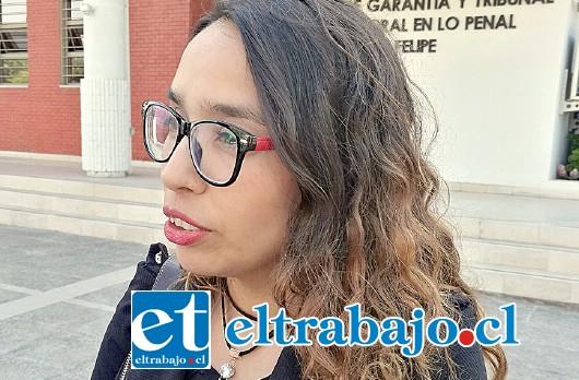 Abogado querellante, Gabriela Fernández.