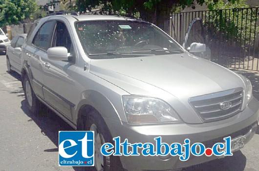 El vehículo de propiedad de la víctima de 53 años de edad se encontraba estacionado en calle Las Heras de San Felipe, al mediodía de ayer martes.